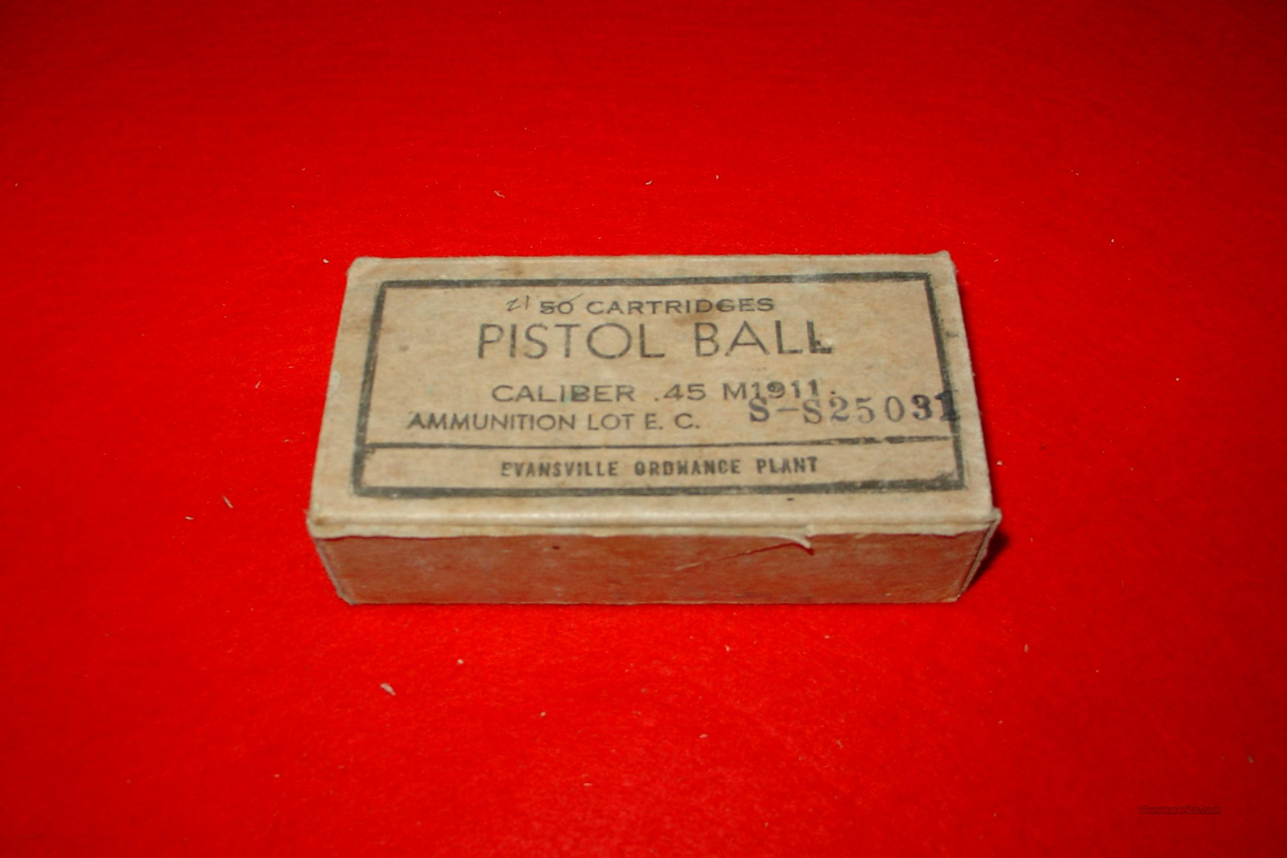 VINTAGE PISTOL BALL CALIBER .45 M1911 AMMO  Non-Guns > Ammunition