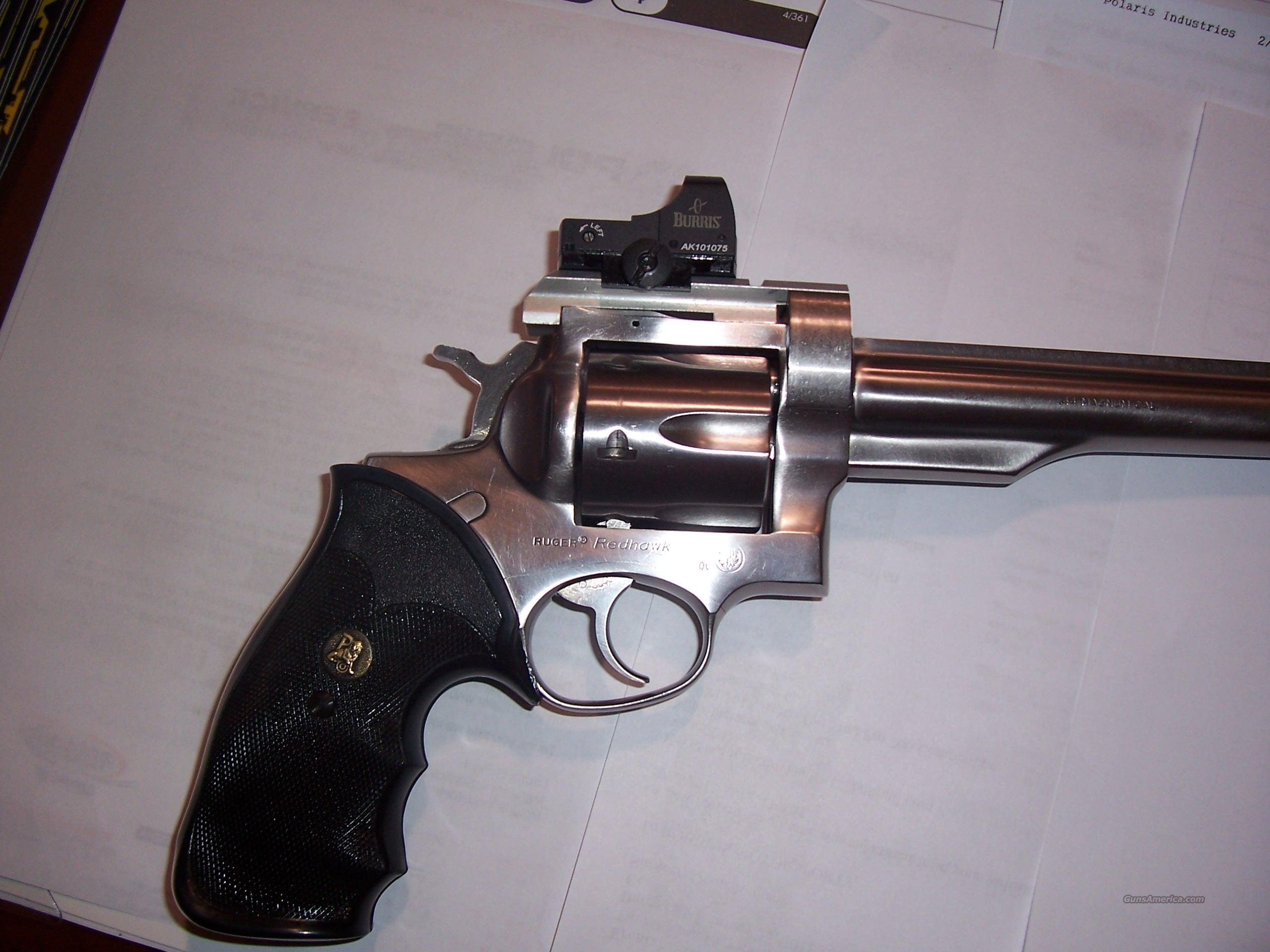 Ruger Redhawk with burris fastfire and holster  Guns > Pistols > Ruger Double Action Revolver > Redhawk Type