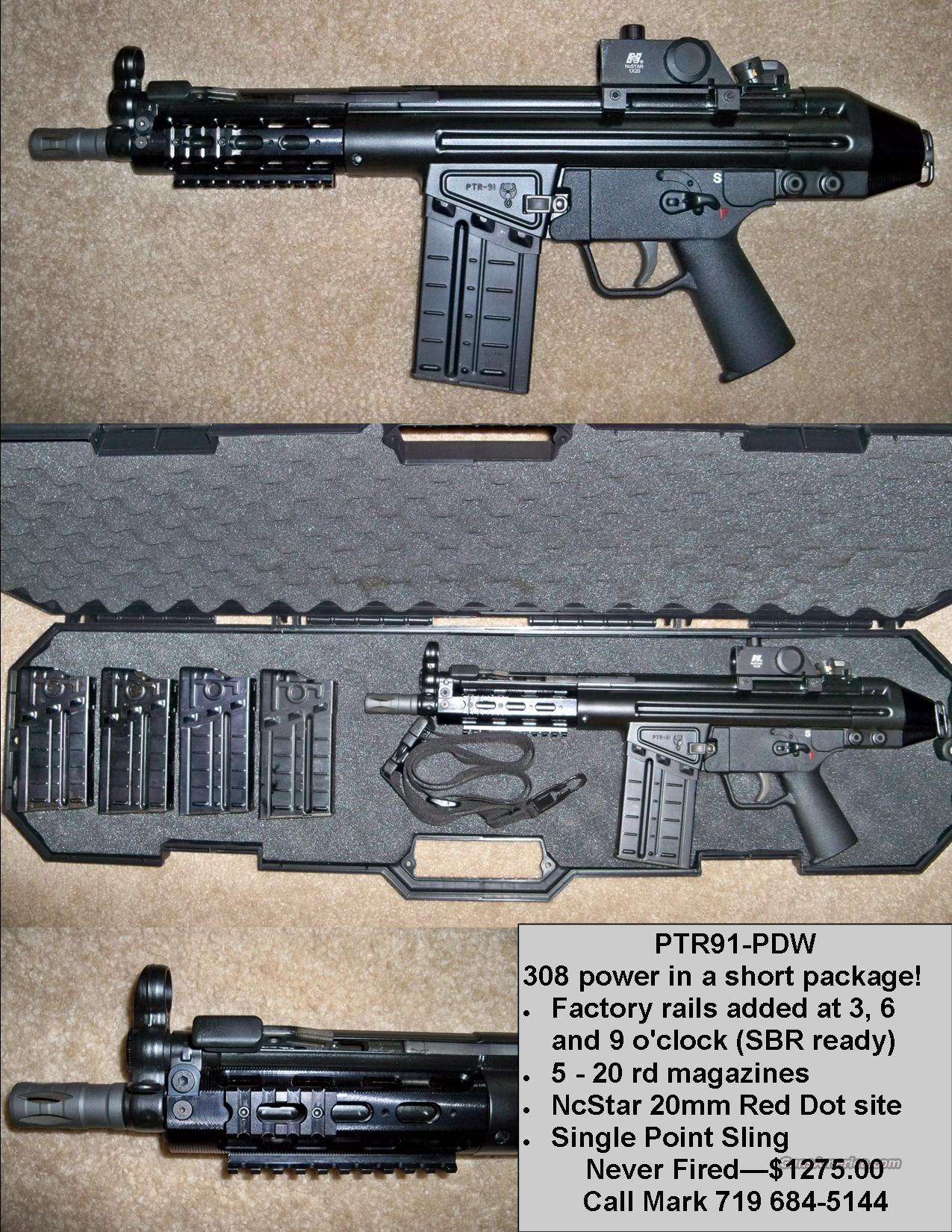 PTR 91 - PDW: 308 with extras! PTR91 HK91 type - Free Shipping  Guns > Rifles > PQ Misc Rifles