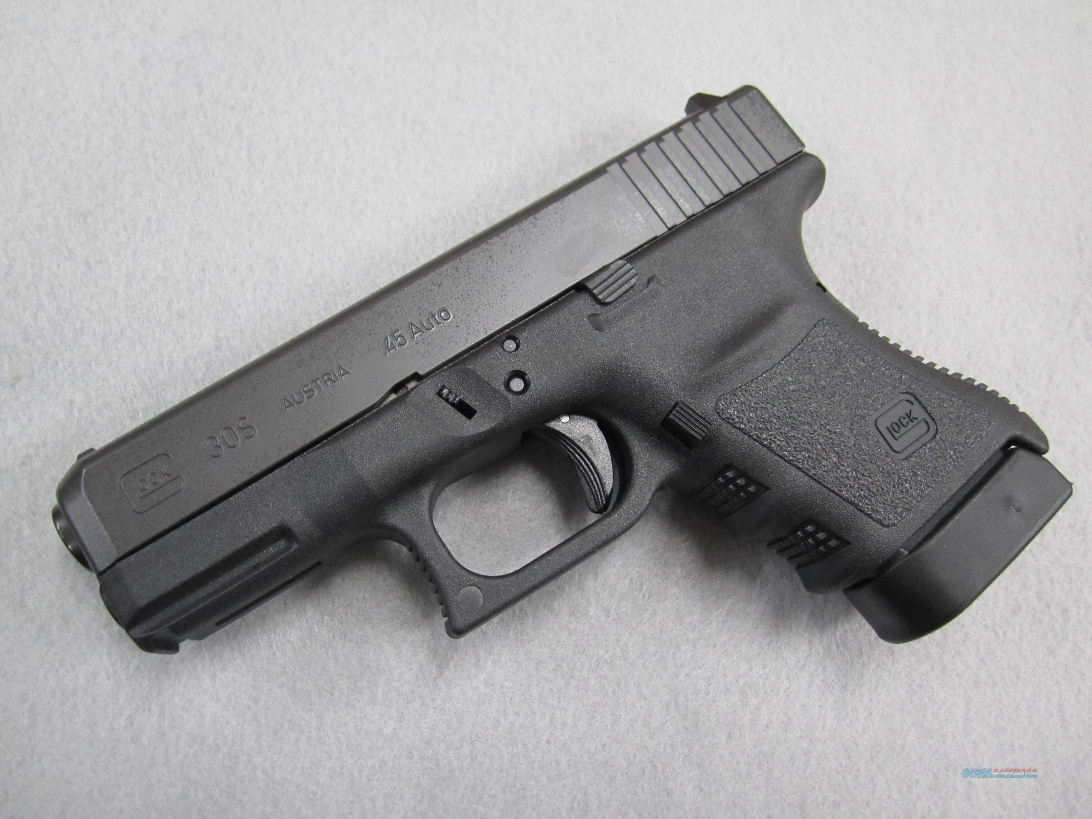 Glock 30S  in .45 ACP. Never fired!  Guns > Pistols > Glock Pistols > 29/30/36
