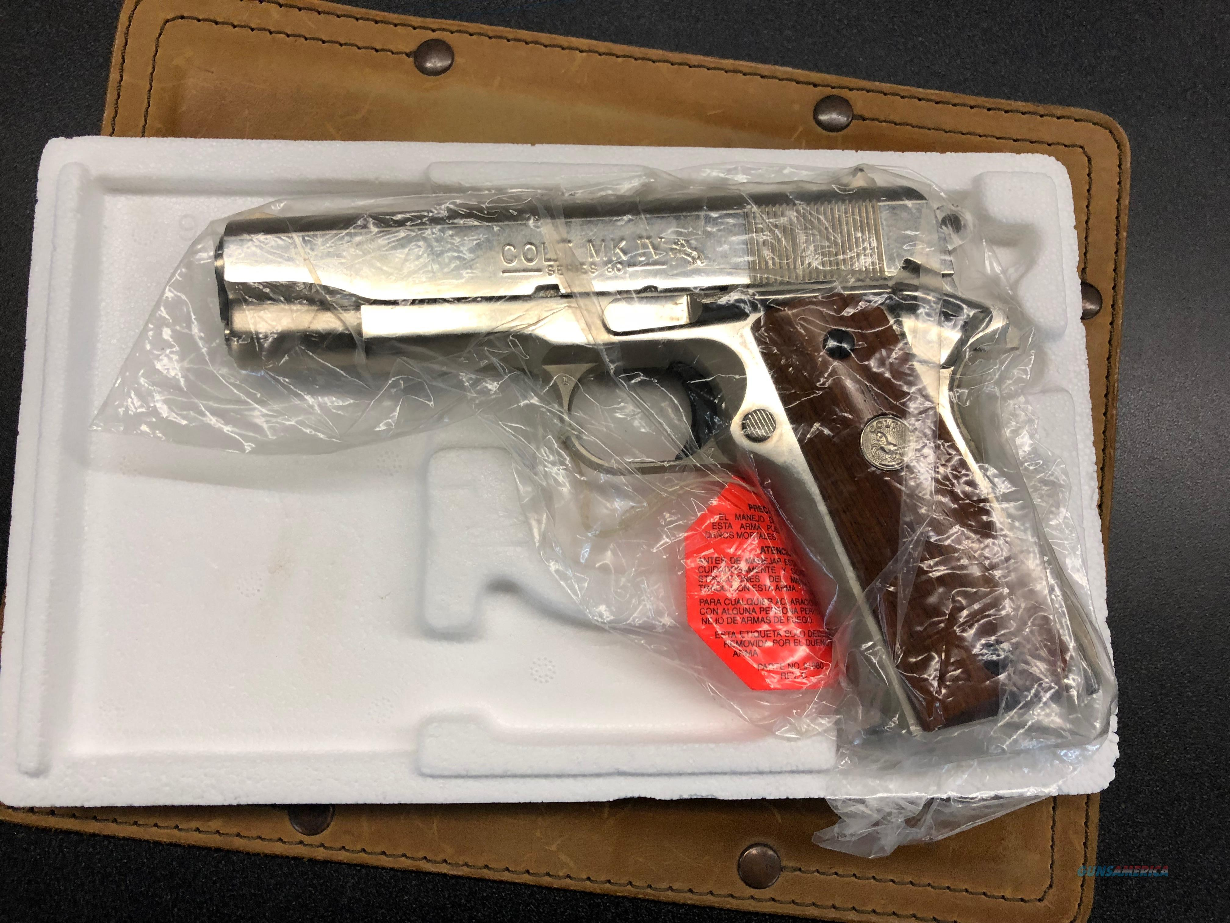 Colt Combat Commander NIB Bright Nickel!!!  Guns > Pistols > Colt Automatic Pistols (1911 & Var)