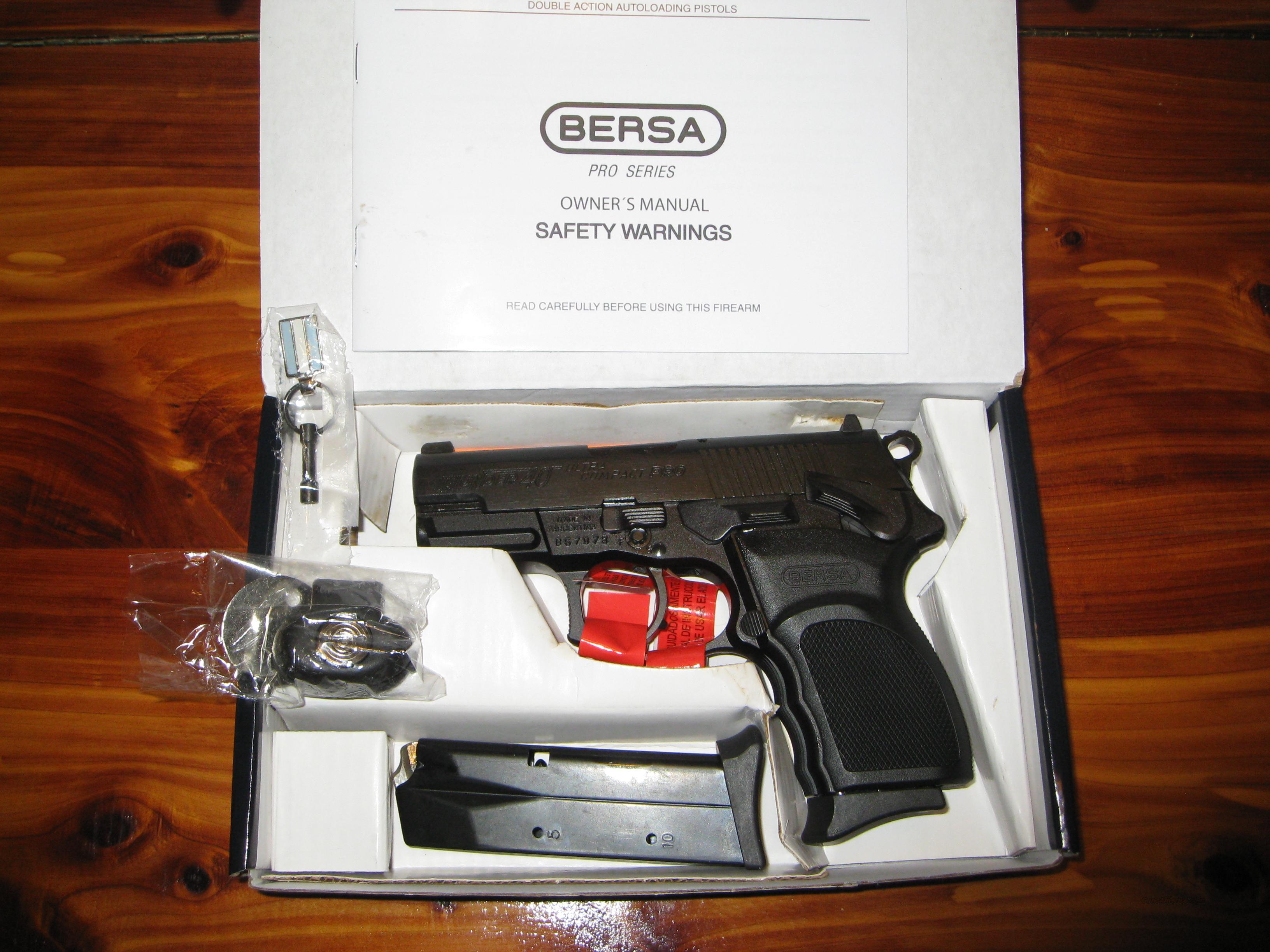BERSA THUNDER PRO 40 ULTRA COMPACT .40 S&W  Guns > Pistols > Bersa Pistols
