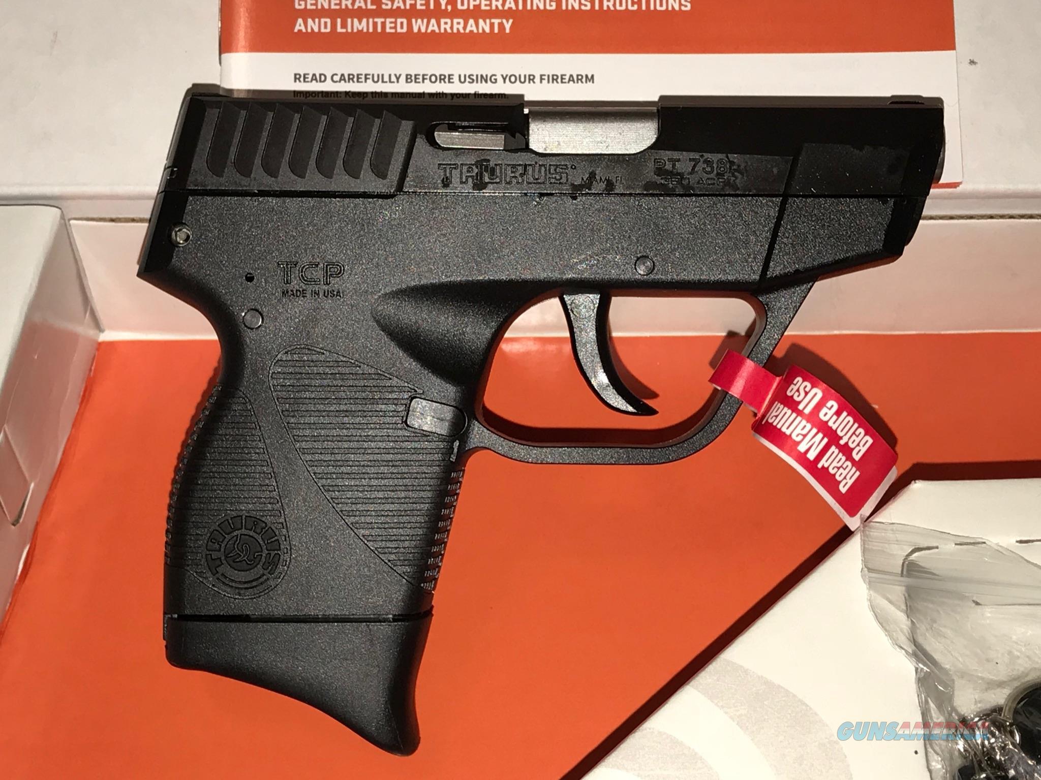 TAURUS 738TCP .380ACP 6+1-SHOT   Guns > Pistols > Taurus Pistols > Semi Auto Pistols > Polymer Frame