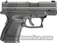 "SPRINGFIELD ARMORY XD SUB-COMPACT .40SW 3"" FS 9-12 SHOT ""ESSENTIALS"" BLACK  Guns > Pistols > Springfield Armory Pistols > XD (eXtreme Duty)"