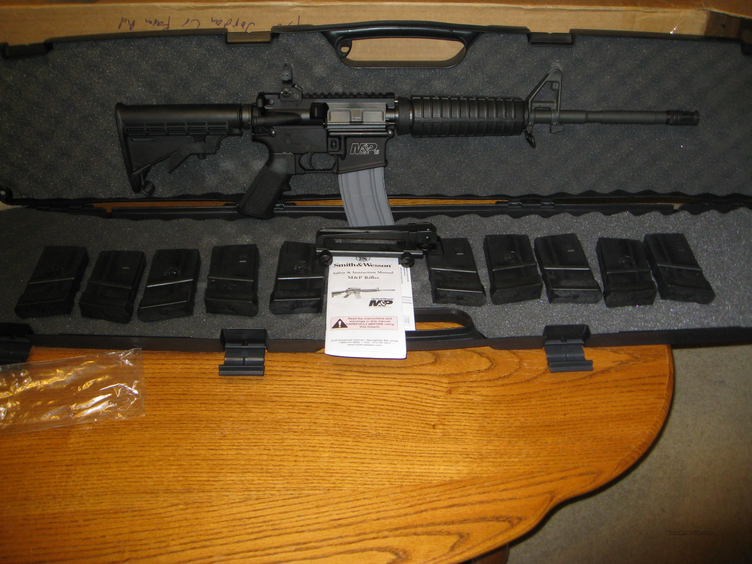 Smith and Wesson M&P-15A .223/5.56mm Nato AR-15  Guns > Rifles > Smith & Wesson Rifles > M&P