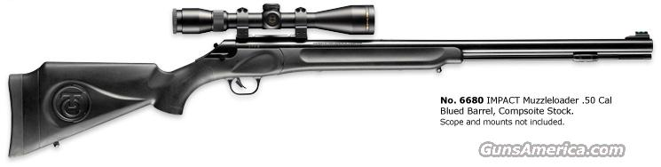 Thompson/Center IMPACT .50 Caliber Muzzleloader and complete accessory package  Guns > Rifles > Thompson Center Muzzleloaders > Inline Style