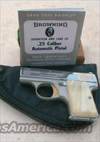 Browning Baby Lightweight Nickel 25acp  Guns > Pistols > Browning Pistols > Hi Power