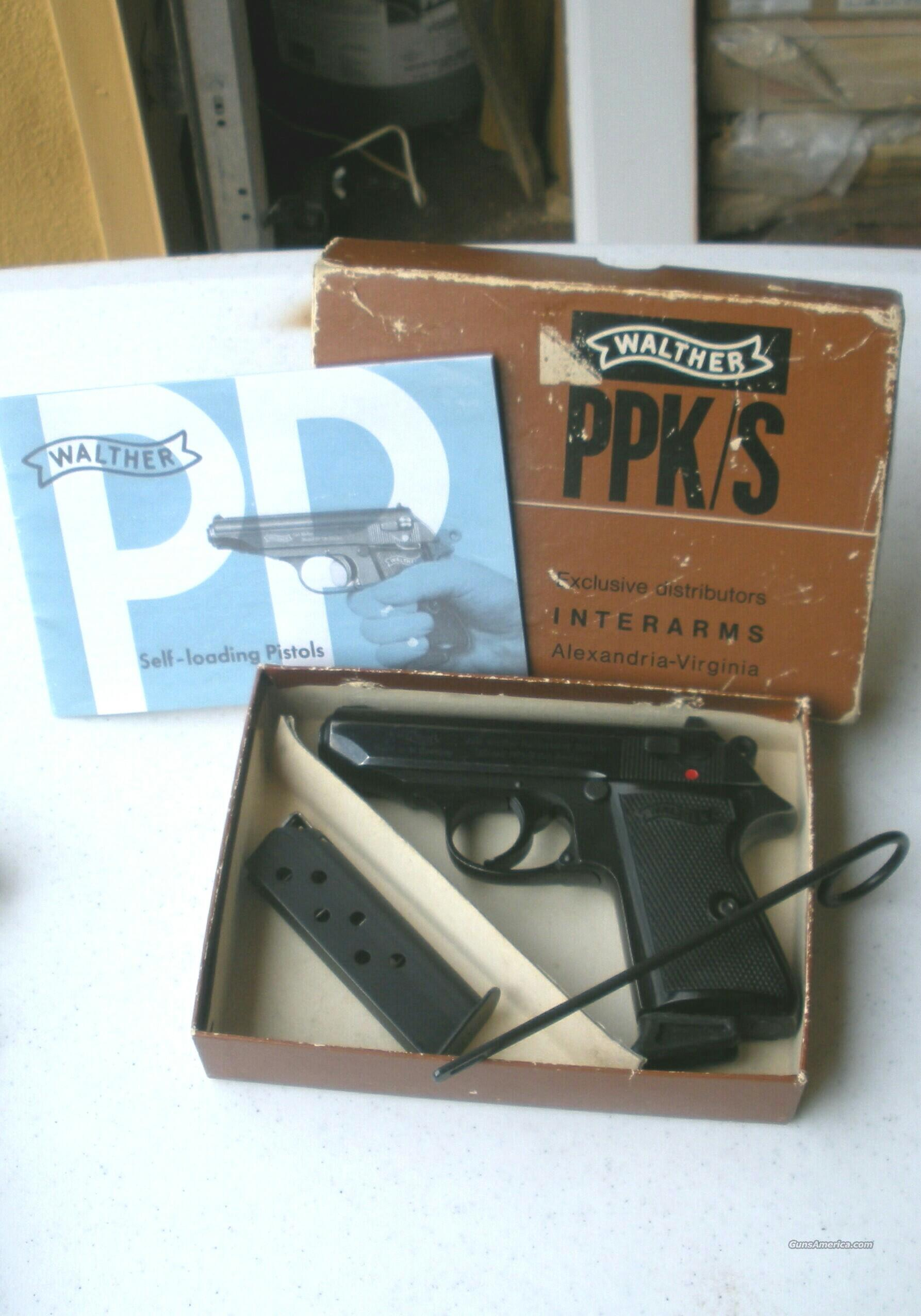 Walther PPK/s German made 380 acp  Guns > Pistols > Walther Pistols > Post WWII > PPK Series