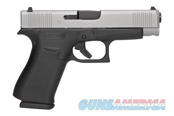Glock 48 9mm Pistol Silver Slide 10+1 Cap  2mags PA-485SL2-01  Guns > Pistols > Glock Pistols > 43