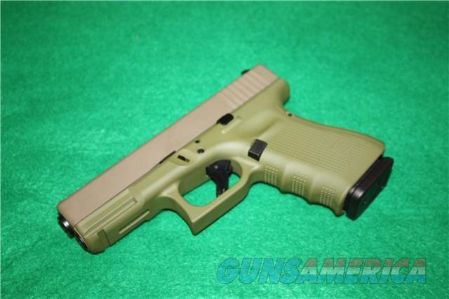 Glock 19 Gen4 UG1950204CKBGFD Exclusive Bazooka Green/FDE $619  Guns > Pistols > Glock Pistols > 19/19X
