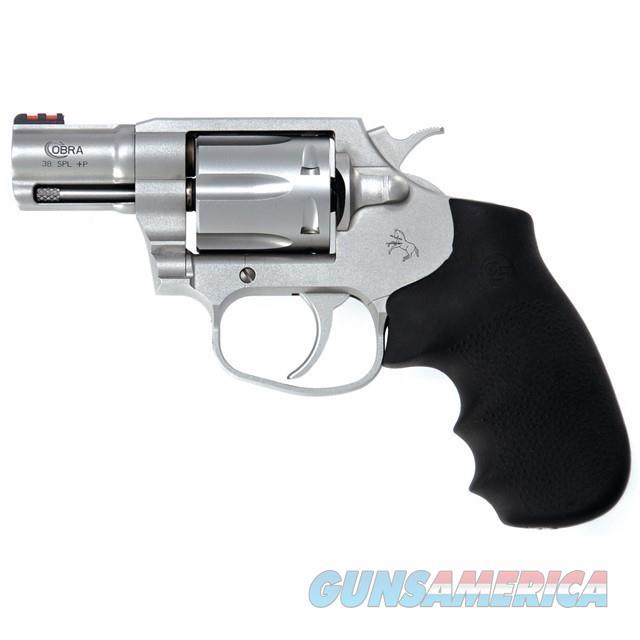 Colt Cobra Revolver SM2FO Stainless 38+P 6 shot Hogue Grips $639 NIB  Guns > Pistols > Colt Double Action Revolvers- Modern