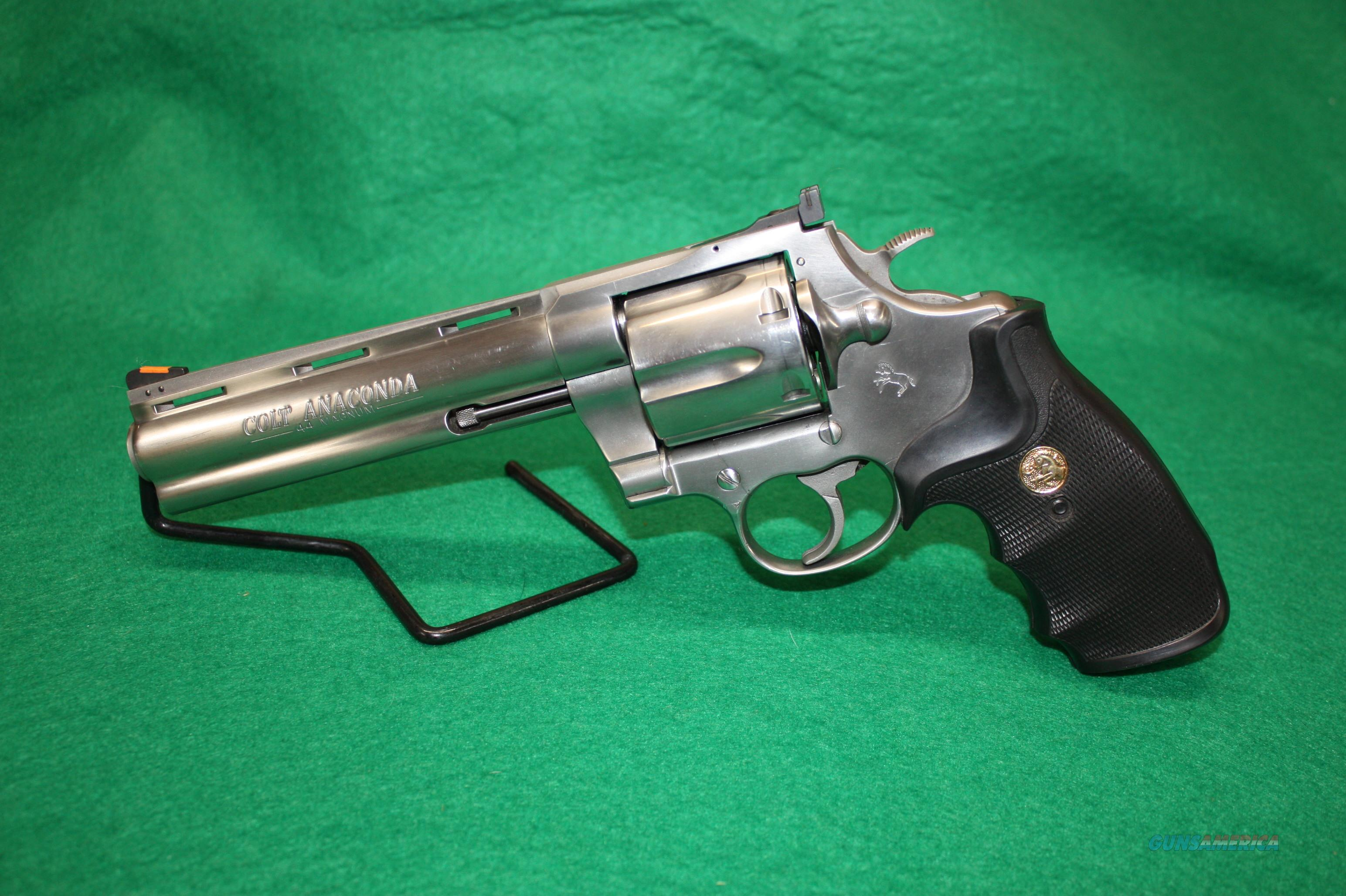 "Colt Anaconda 44mag 6"" Stainless 1991 Model Very Nice Revolver  Guns > Pistols > Colt Double Action Revolvers- Modern"