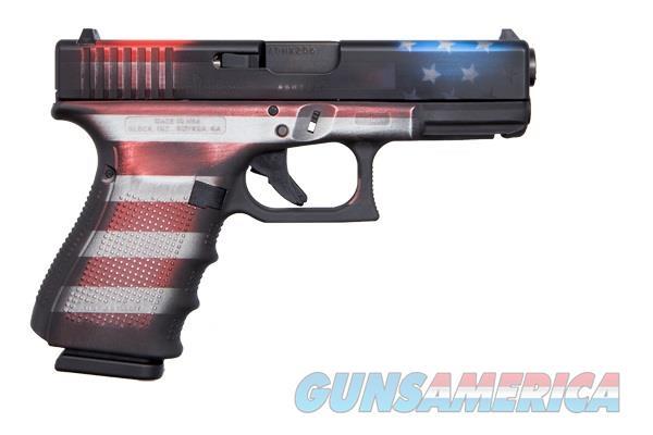GLOCK 19 GEN 4 Battleworn Flag Cerekote, 9MM, 15+1 Cap w/3Mags $635  Guns > Pistols > Glock Pistols > 19/19X