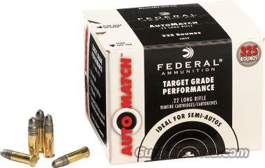 Federal Auto Match .22 LR Ammo 325rds  Non-Guns > Ammunition