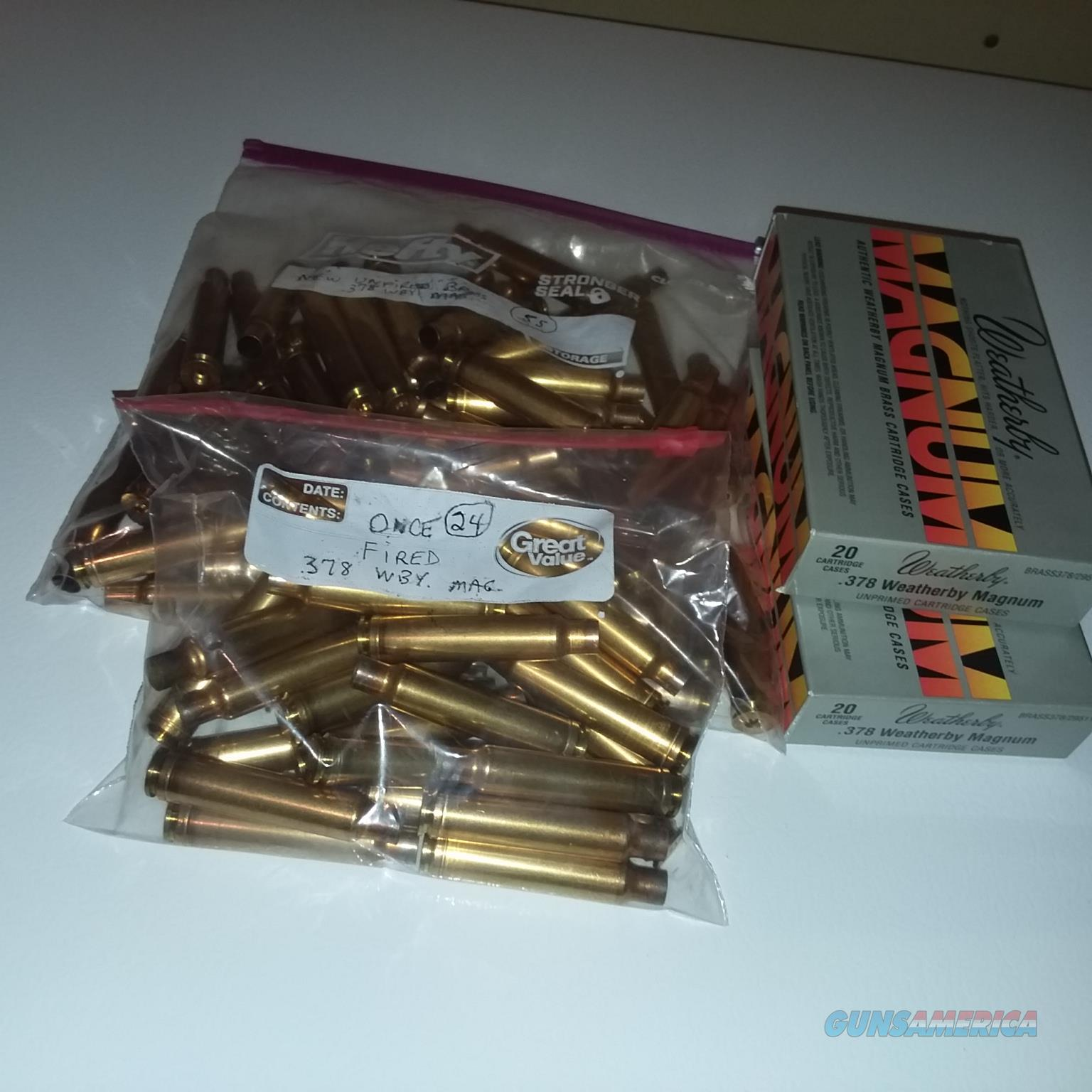 Weatherby .378 Wby. Mag. Brass  Non-Guns > Reloading > Components > Brass