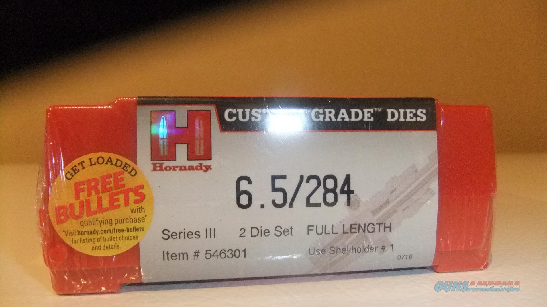 Hornady 6.5x284 Norma Custom Grade Dies  Non-Guns > Reloading > Equipment > Metallic > Dies