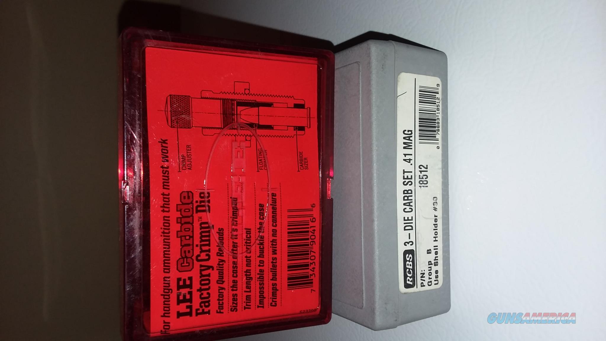 RCBS Carbide .41 Mag. Dies, Lee Crimp Die, RCBS SH #30  Non-Guns > Reloading > Equipment > Metallic > Dies