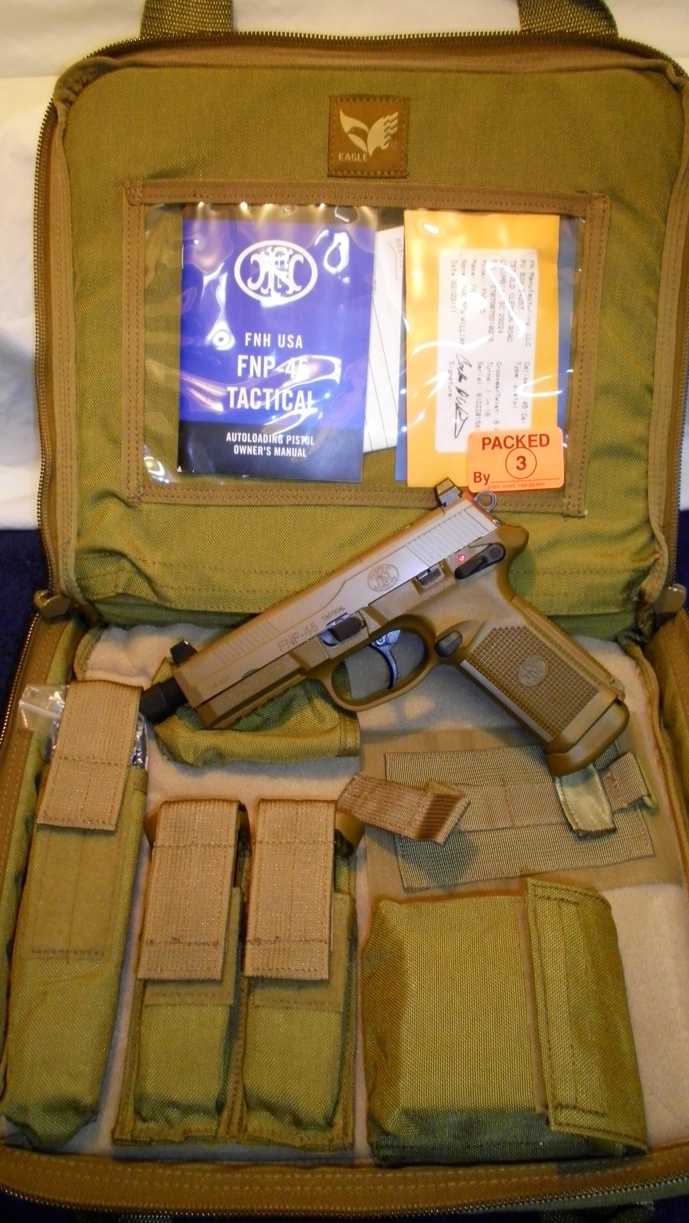 FN .45 Tactical  Guns > Pistols > FNH - Fabrique Nationale (FN) Pistols > FNP