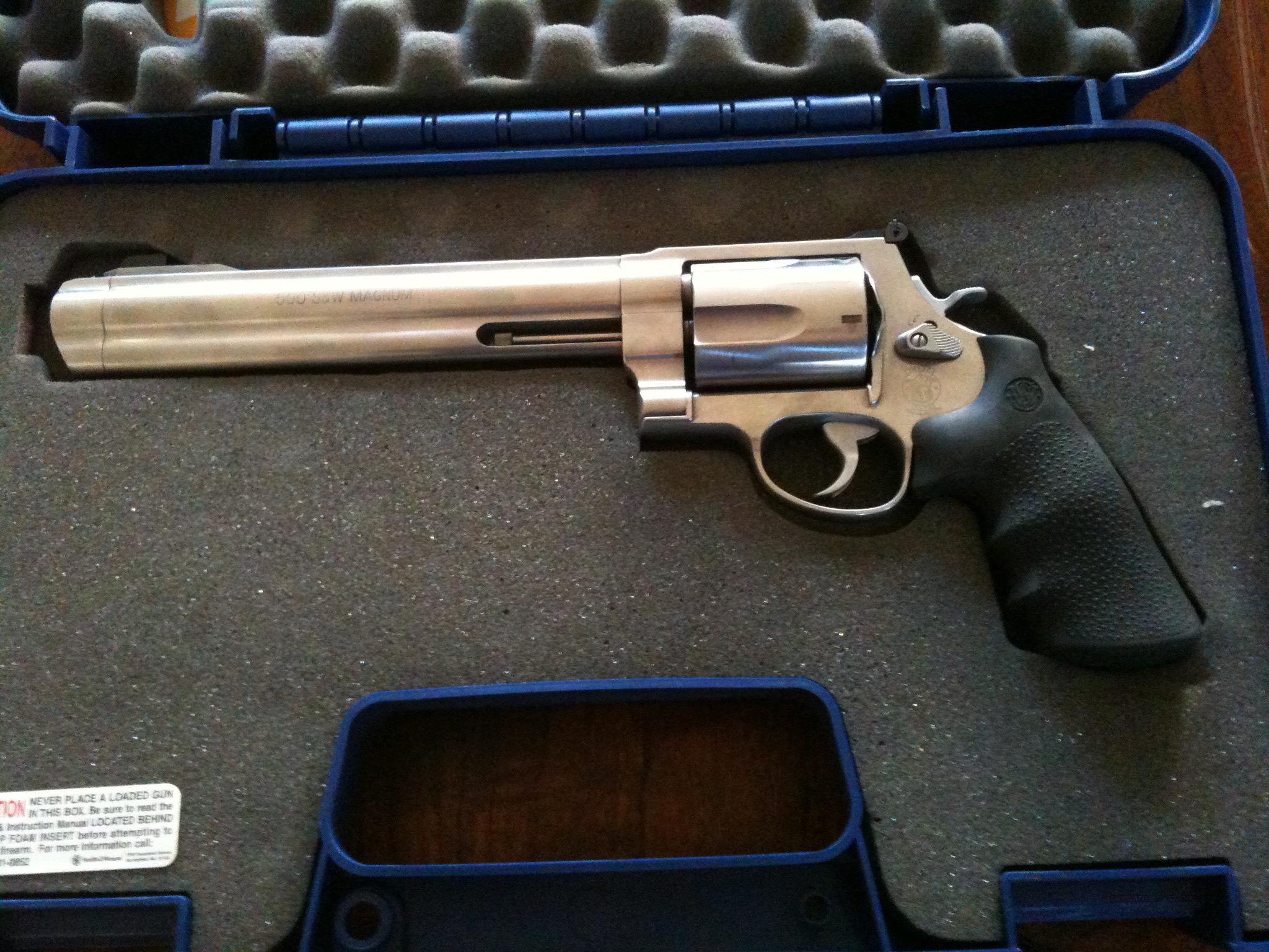 Smith & Wesson 500 Magnum 8 3/8 barrel  Guns > Pistols > Smith & Wesson Revolvers > Full Frame Revolver