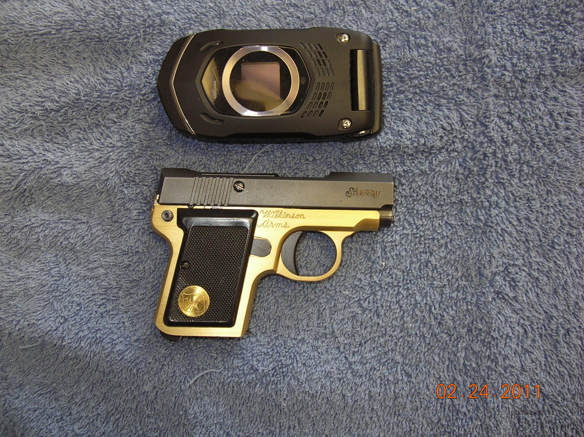 Wilkinson Sherry  gold/black 22LR  Guns > Pistols > W Misc Pistols