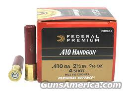 Christmas Special !Federal .410 Personal Defense Hand Inspected for S&W Governor and Taurus Judge 9 Factory Boxes - Total 180 Rounds  Non-Guns > Ammunition