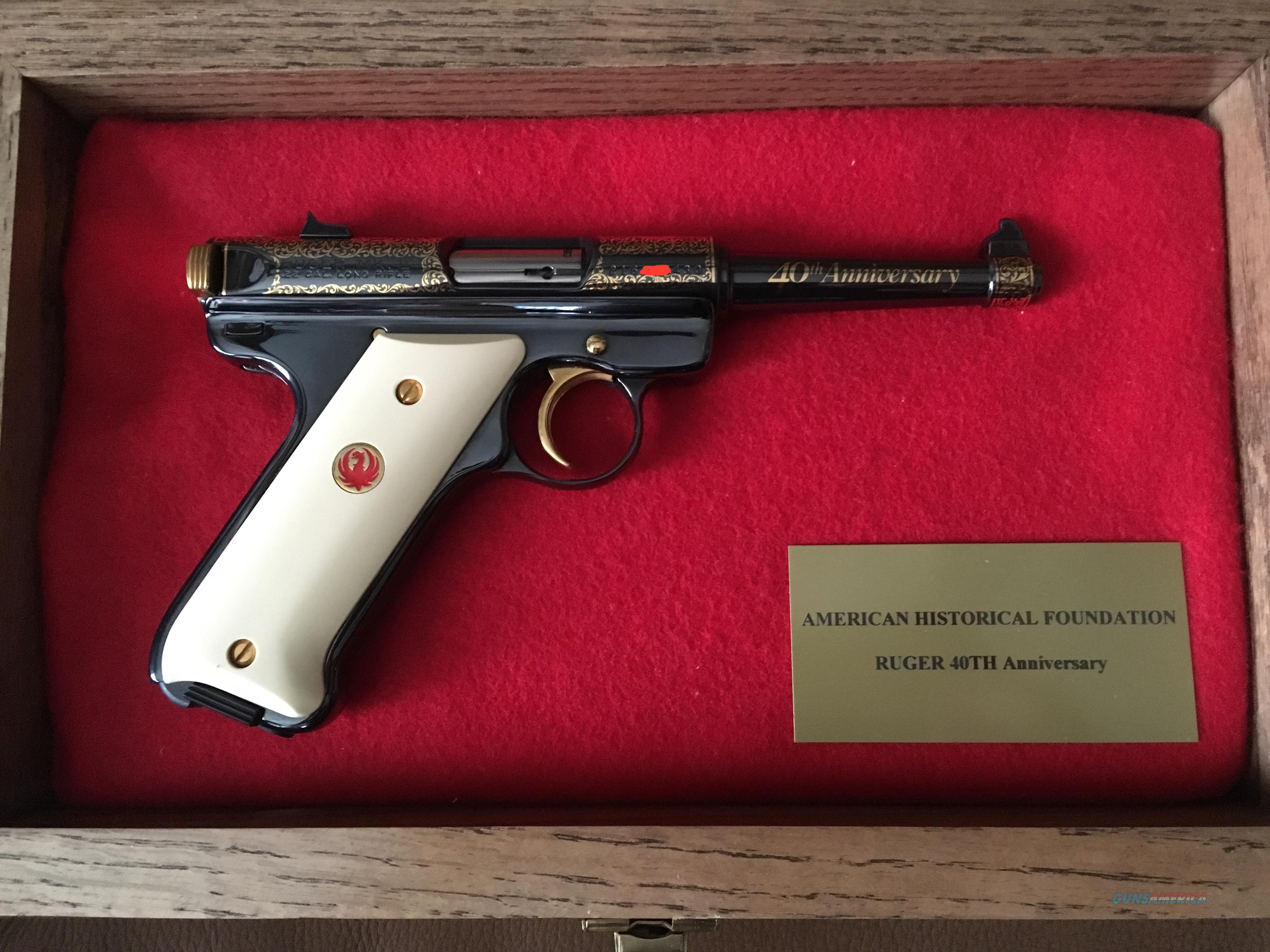 Ruger 40th Anniversary Mark II W/presentation case  Guns > Pistols > Ruger Semi-Auto Pistols > Mark I/II/III Family