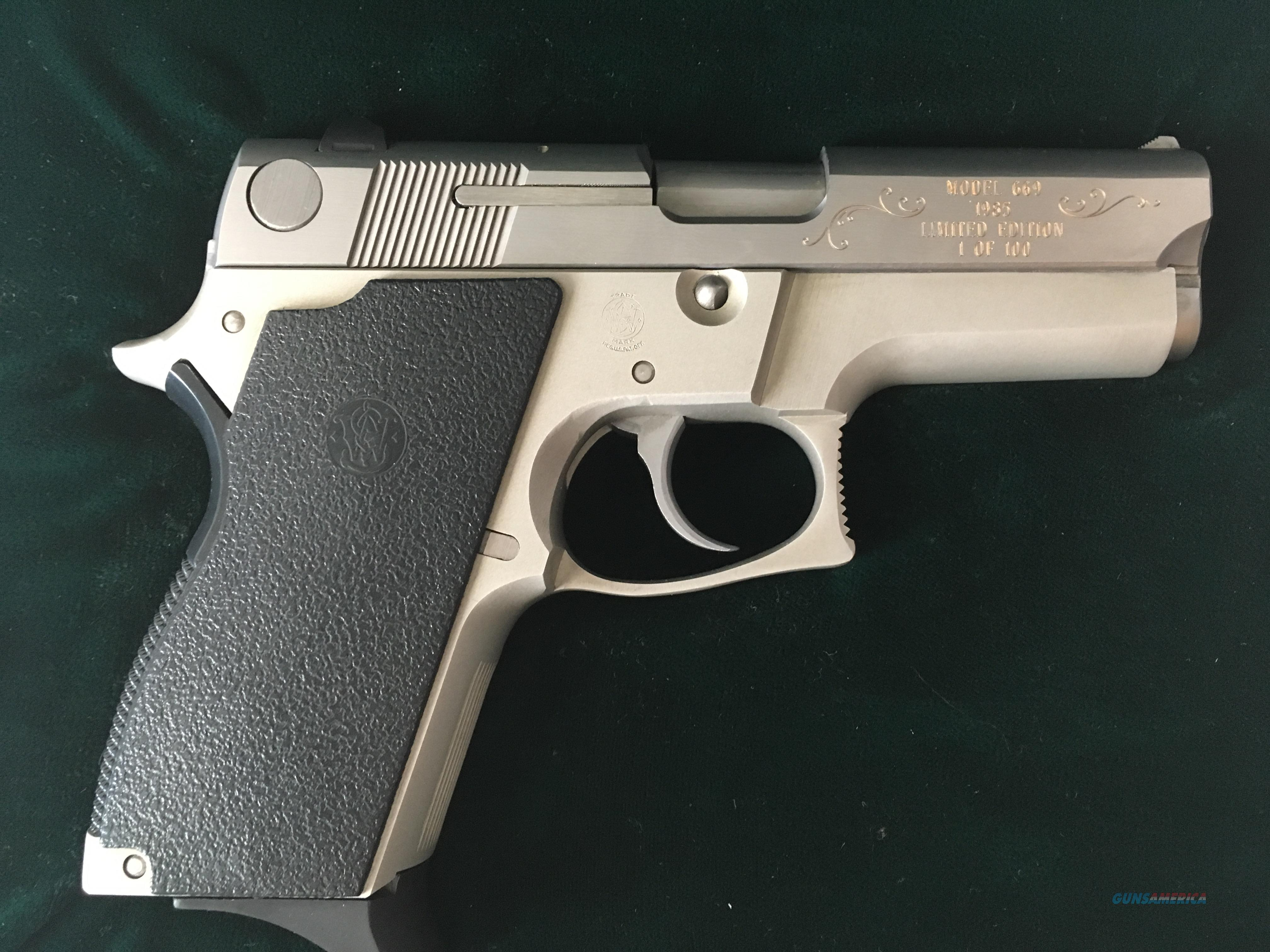 Smith & Wesson Model 669 9mm 1 of 100  Guns > Pistols > Smith & Wesson Pistols - Autos > Steel Frame