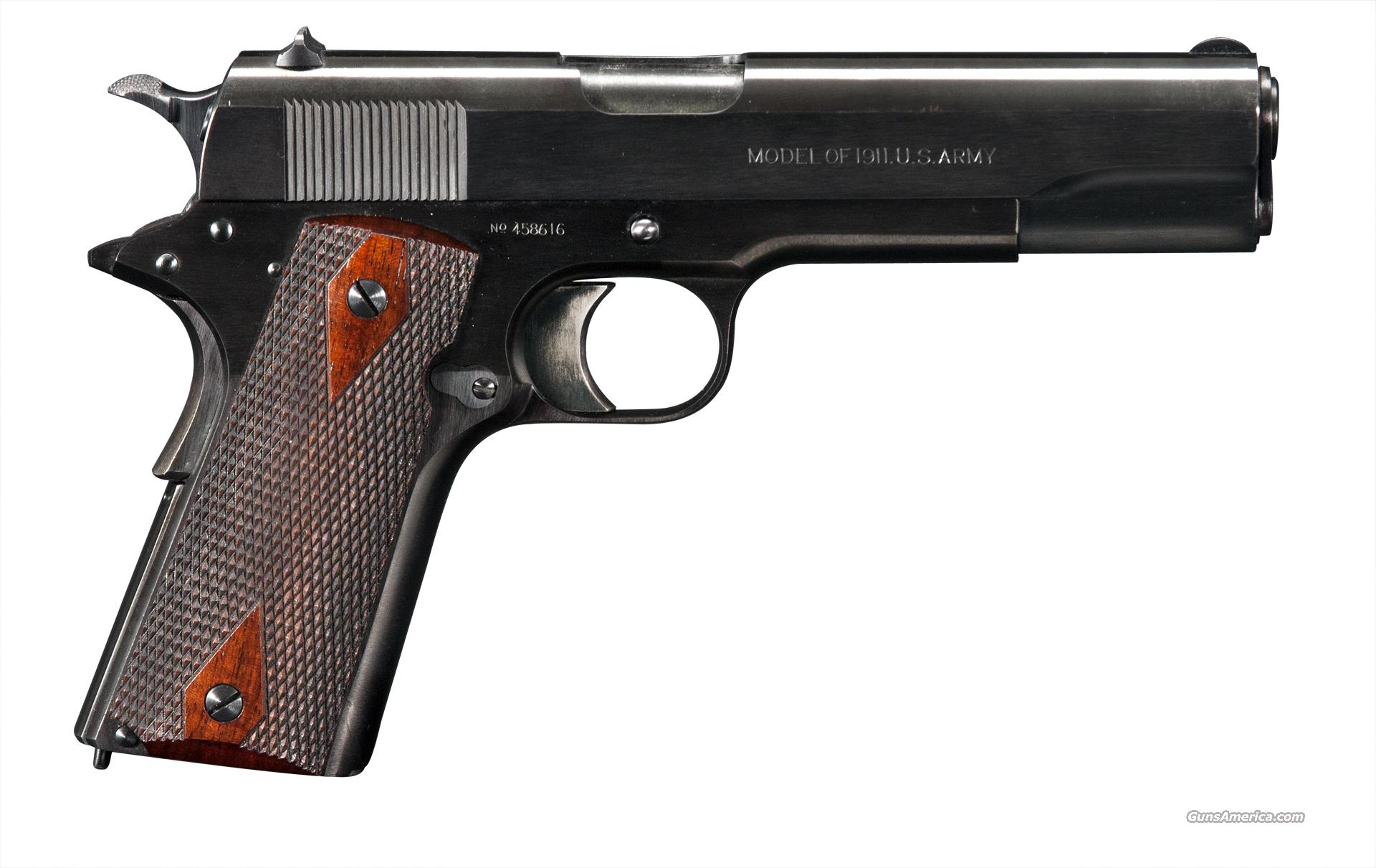 Colt Model 1911 Mfg. 1918  Guns > Pistols > Colt Automatic Pistols (1911 & Var)
