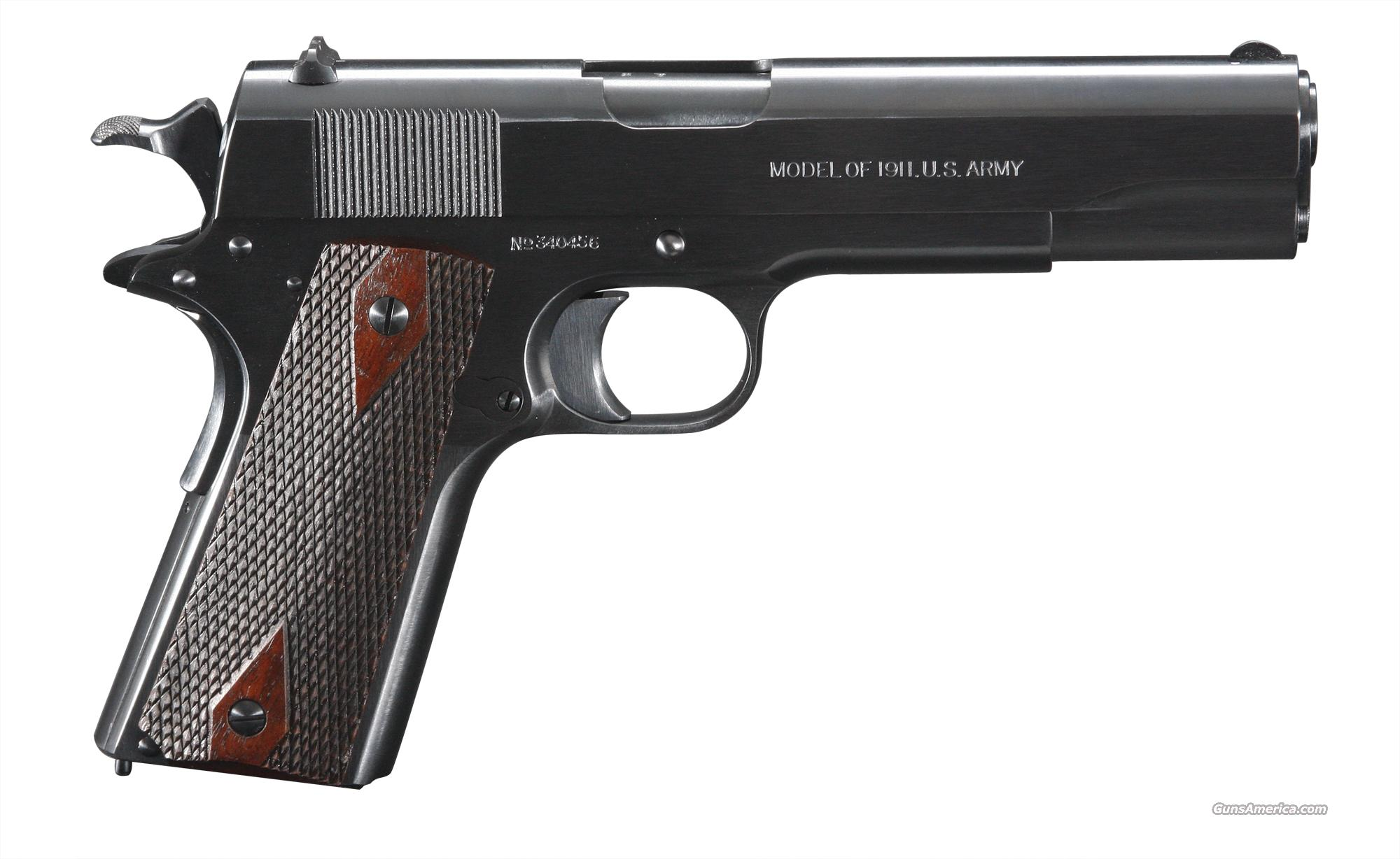 Colt Model 1911 - Mfg. 1918 - Restored by Turnbull  Guns > Pistols > Colt Automatic Pistols (1911 & Var)