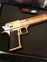 .50 cal gold striped desert eagle  Guns > Pistols > Magnum Research Pistols