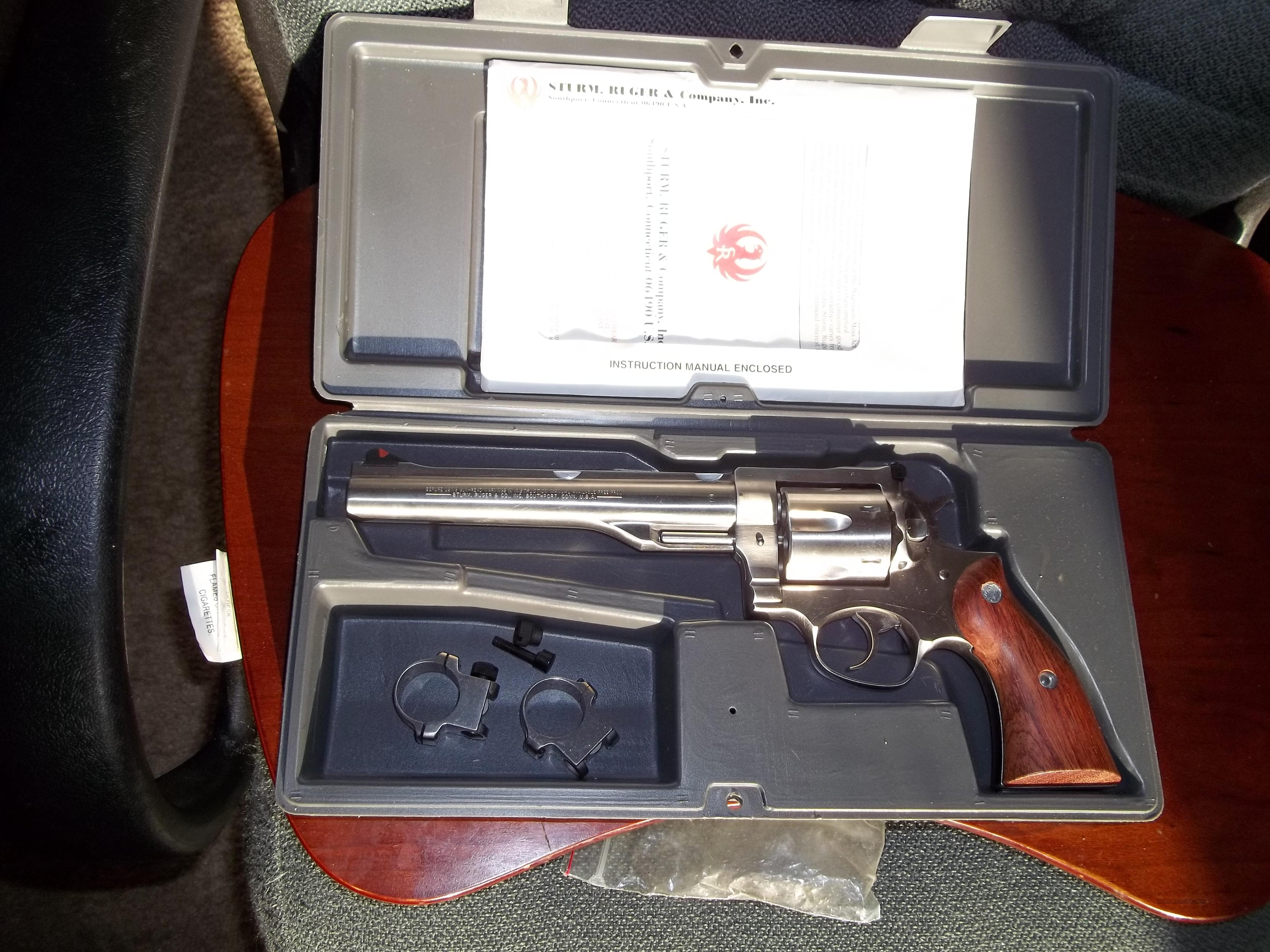 Ruger .44 Magnum Redhawk 7 1/2 inch Stainless Excellent 1996   Guns > Pistols > Ruger Double Action Revolver > Redhawk Type