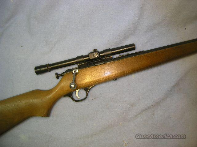 Sears 1970's single shot bolt action .22 w/scope  Guns > Rifles > Marlin Rifles > Modern > Bolt/Pump