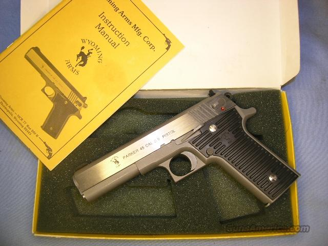 "1911 Wyoming Arms PARKER .45acp, stainless steel 5"" NIB  Guns > Pistols > 1911 Pistol Copies (non-Colt)"