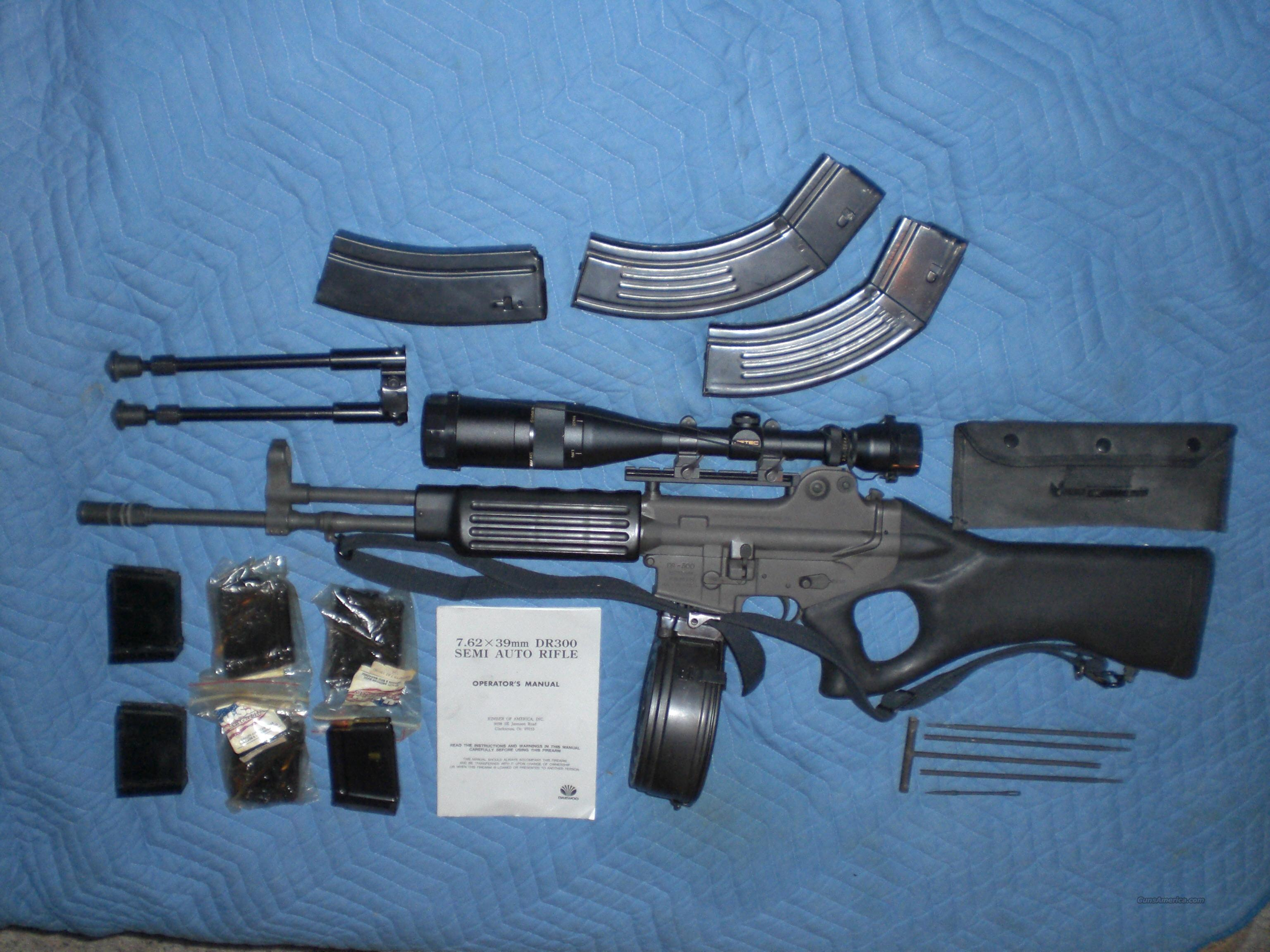 Daewoo DR 300 (7.62x39mm) w/ 90-rd Drum for sale