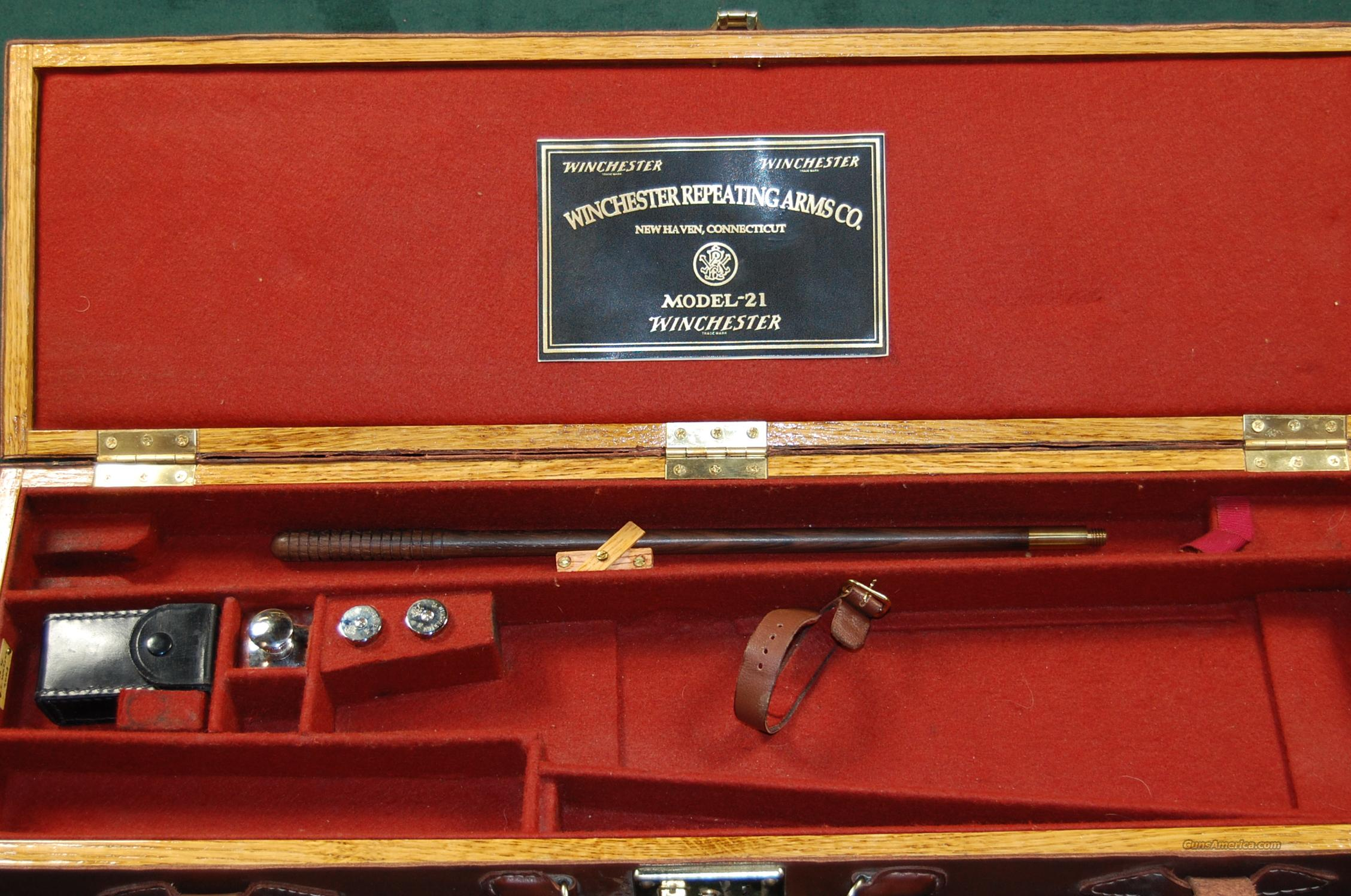 Winchester model 21 case  Non-Guns > Gun Cases