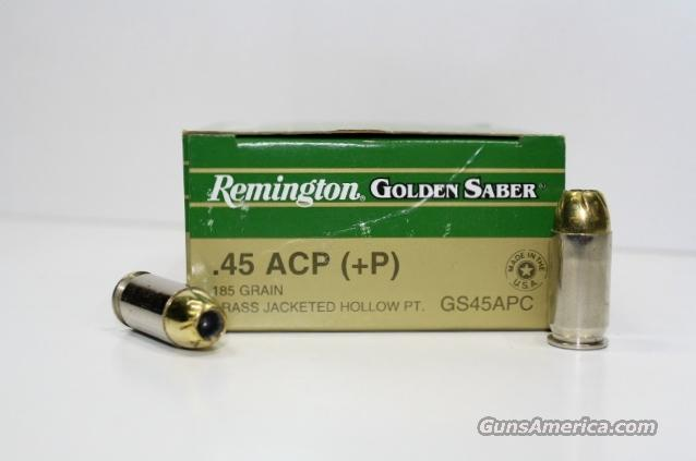 REMINGTON 45 AUTO +P GOLDEN SABER 185gr 500rds  Non-Guns > Ammunition