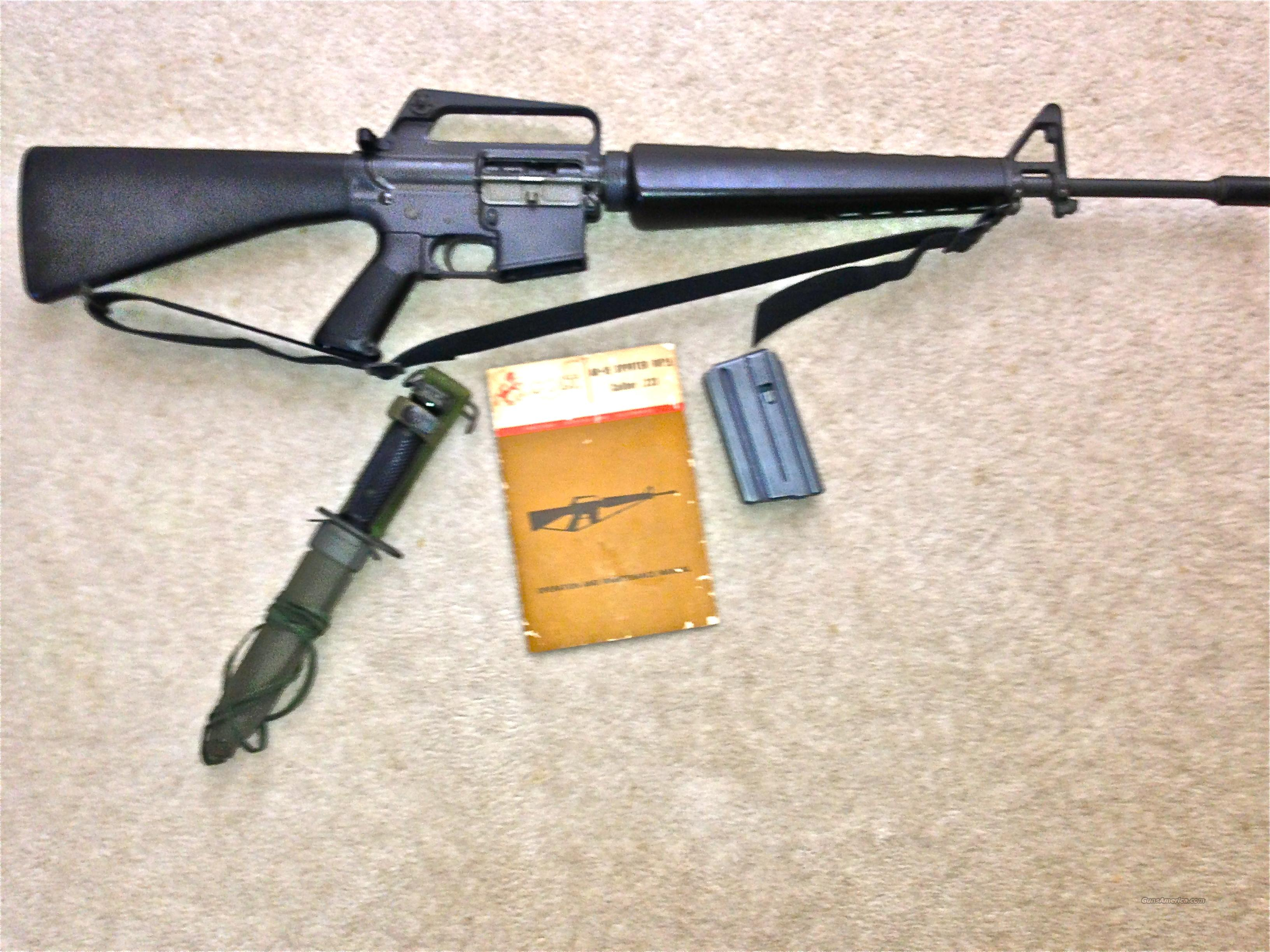COLT SP-1 AR15 WITH MANUAL AND m7 BAYONET   Guns > Rifles > Colt Military/Tactical Rifles