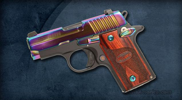 Sig Sauer P238 Special Edition Rainbow Titanium finish with Rosewood Grips & NS  Guns > Pistols > Sig - Sauer/Sigarms Pistols > P238