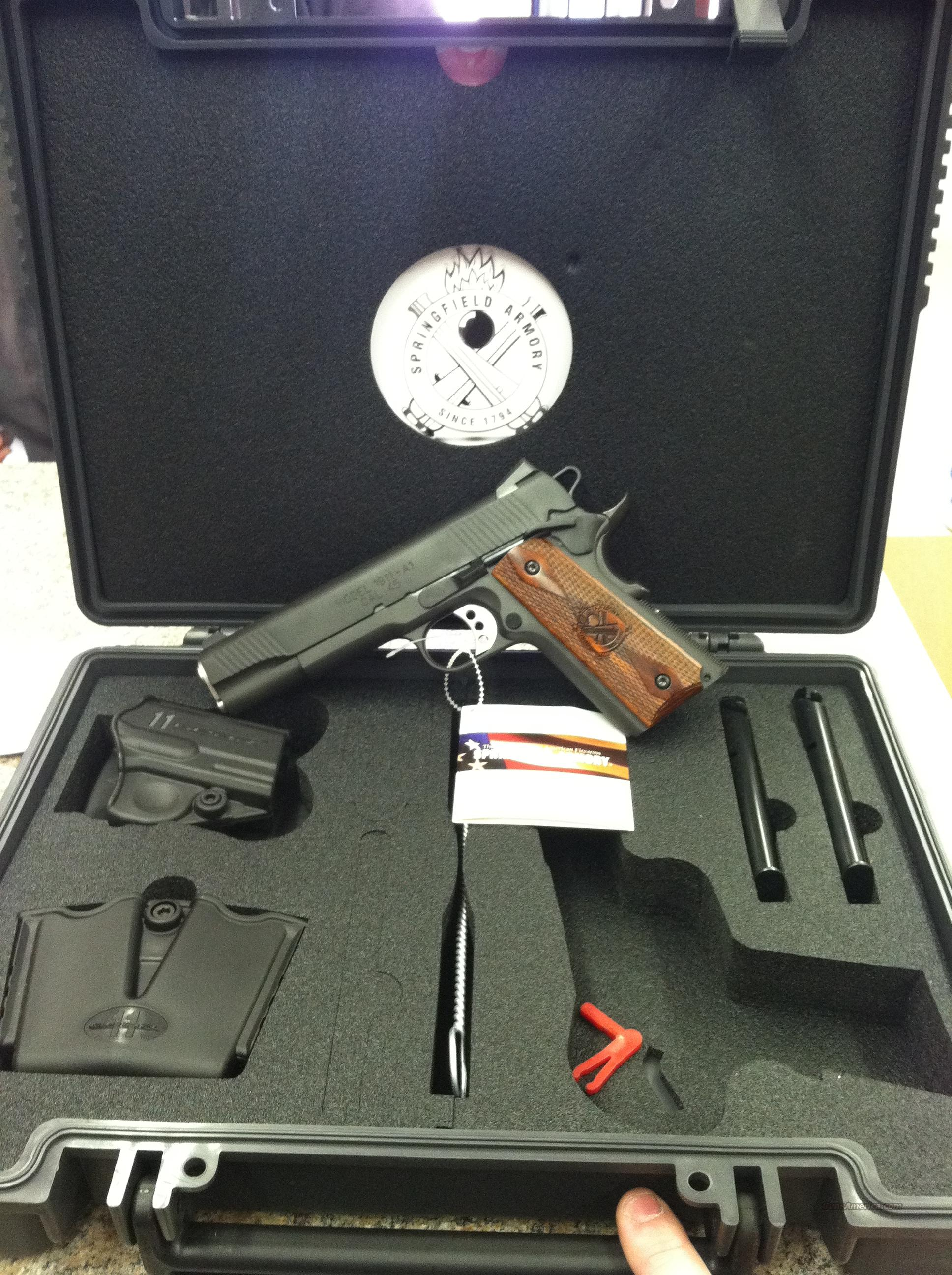 New Springfield 1911-45 Loaded Parkerized PX9109LP  With NS  Guns > Pistols > Springfield Armory Pistols > 1911 Type