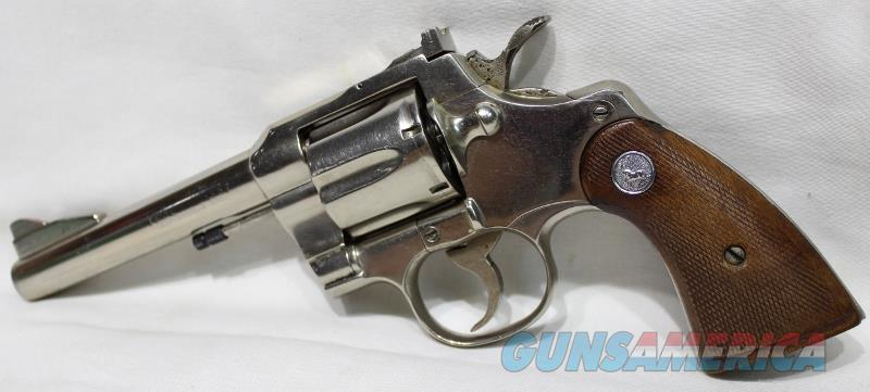 Colt Trooper 5 inch nickel FHP  not python  Guns > Pistols > Colt Double Action Revolvers- Modern