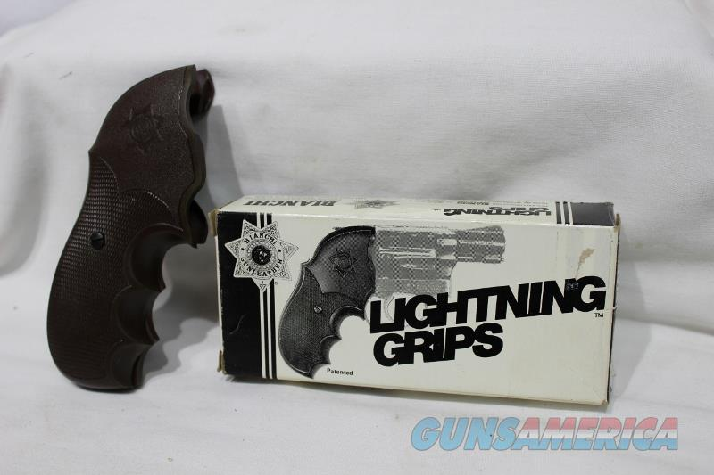 Bianchi Lightning S&W grips M 19 M 10 NEW brown  Non-Guns > Gunstocks, Grips & Wood