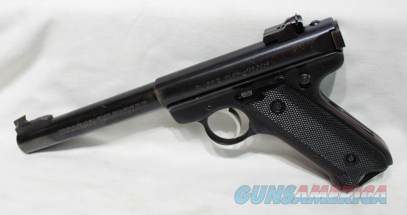 "Ruger Mark II government Target Bull 22LR 6 7/8"" bbl used  Guns > Pistols > Ruger Semi-Auto Pistols > Mark I/II/III/IV Family"