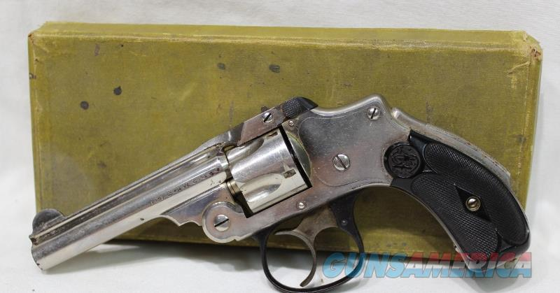 "S&W 32 safety hammerless 3rd model w/ New Departure box 3.5""  Guns > Pistols > Smith & Wesson Revolvers > Pre-1945"