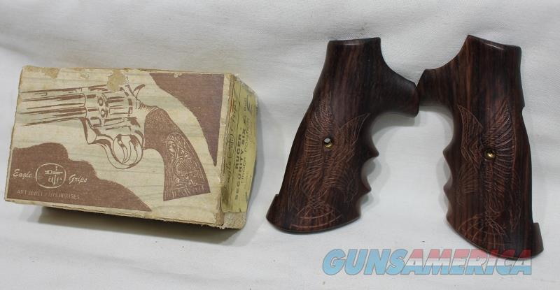 Eagle Ruger Security Six square butt wood grips carved NEW  Non-Guns > Gunstocks, Grips & Wood