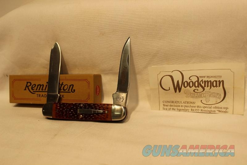 Remington Woodsman knife 1985 R4353 NIB NOS  Non-Guns > Knives/Swords > Knives > Folding Blade > Hand Made