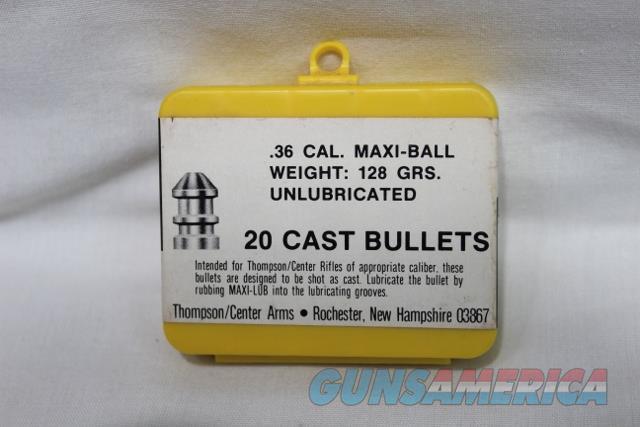 Thompson Center 36 cal 128gr maxi ball #7293  Non-Guns > Black Powder Cartridge