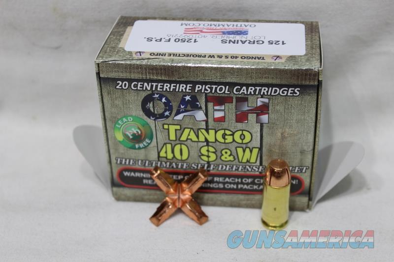 Oath 40SW Tango 20rds NEW not black talon  Non-Guns > Ammunition