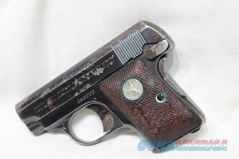 Colt 1908 hammerless 1931 25acp USED  Guns > Pistols > Colt Automatic Pistols (.25, .32, & .380 cal)