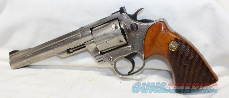 "Colt Trooper MKIII 357mag 8"" Nickel USED not python  Guns > Pistols > Colt Double Action Revolvers- Modern"