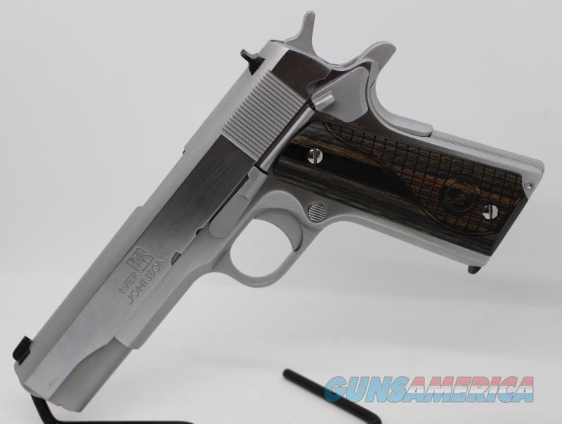 Iver Johnson 1911a1 Chrome 38 super NEW Black Wood  Guns > Pistols > Iver Johnson Pistols